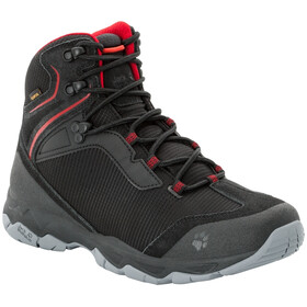 Jack Wolfskin Rock Hunter Texapore Middelhoge Schoenen Heren, black/red